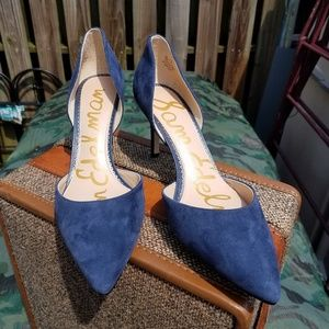 Sam Edelman Telsa Blue Suede Pumps *like new sz 10